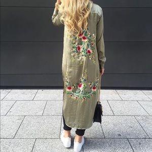 Zara satin long shirt
